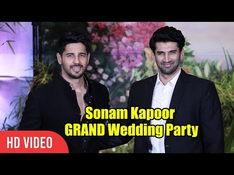 Sidharth Malhotra and Aditya Roy Kapur At Sonam Kapoor's Grand Wedding Party