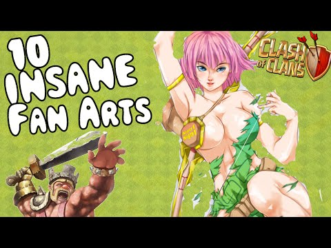 10 INSANE CLASH OF CLANS FAN ARTS
