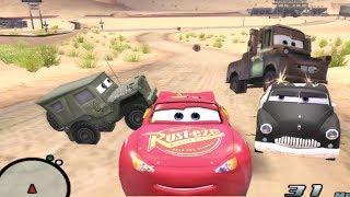 Disney Pixars Cars Movie Game - Crash Mcqueen 74 - Flying Ninja Sarge