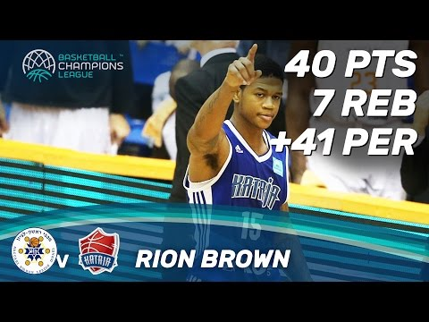 Rion Brown (40 Pts) was on fire vs. Maccabi Rand Media