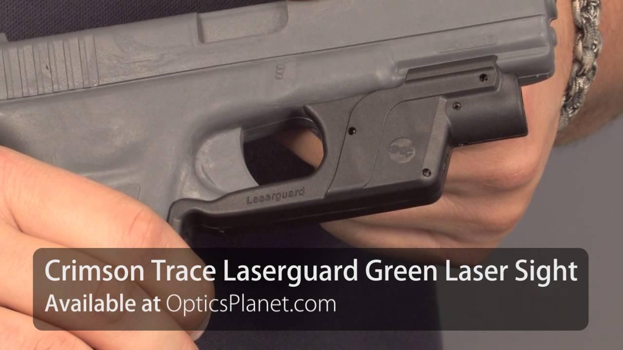 Crimson Trace Green Rail Master & Laserguard Sights - OpticsPlanet com  Product in Focus