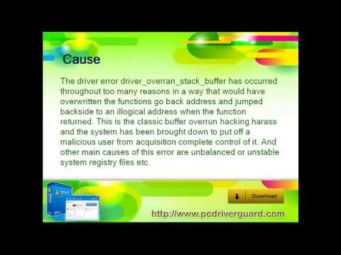 solve driver overran stack buffer - YouTube