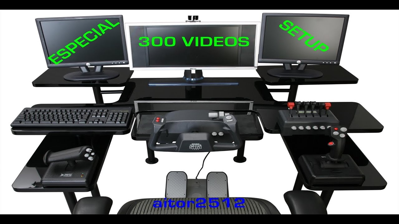 especial 300 videos setup de mi rinc n gaming youtube. Black Bedroom Furniture Sets. Home Design Ideas