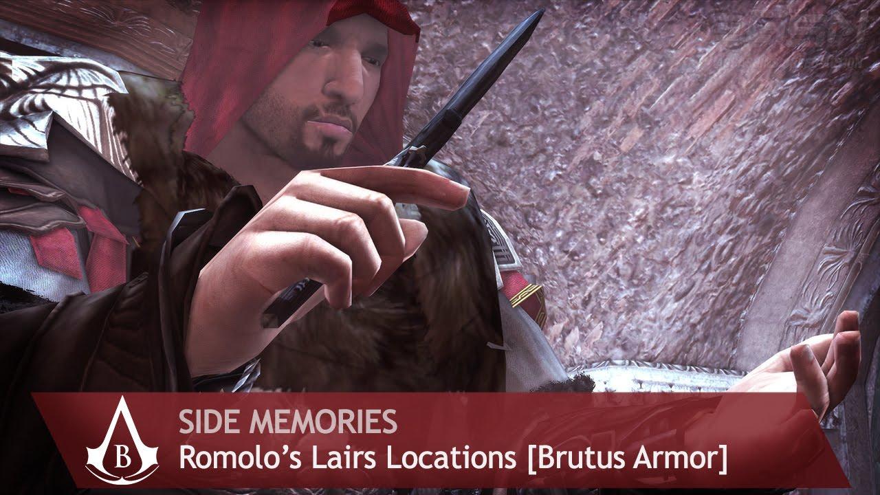 Assassins Creed Brotherhood Side Memories Romulus Lairs