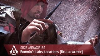 Assassin's Creed: Brotherhood - Side Memories - Romulus Lairs [Brutus Armor]