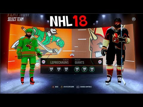 LEPRECHAUNS VS GIANTS IN NHL 18!!!