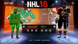 LEPRECHAUNS VS GIANTS IN NHL 18!!!