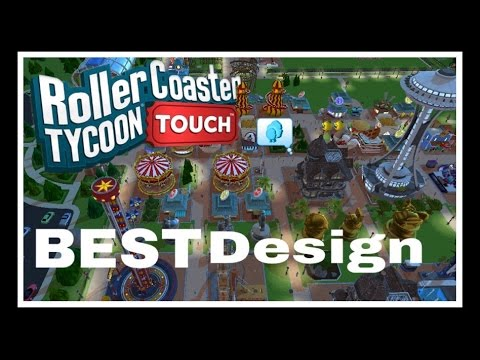 Best Park Design | How To Design Your Park | RollerCoaster Tycoon Touch |  RCT Touch
