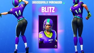 "FOOTBALL SKIN ""BLITZ"" IS THE NEW QUEEN OF FORTNITE 😍❤️"