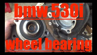 FOLLOW step by step front wheel bearing struts REPLACEMENT BMW 530i √ Fix it Angel