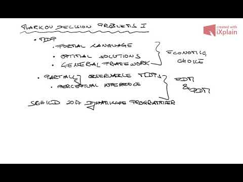 Decision Neuroscience  - Markov decision processes I (08.12.17)