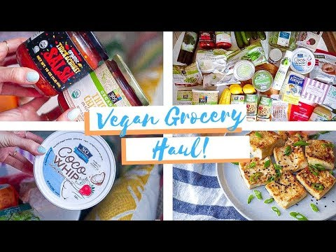 HUGE Healthy Grocery Haul with VEGAN RECIPES! ��☀️