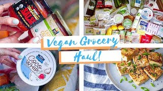 HUGE Healthy Grocery Haul with VEGAN RECIPES! ☀