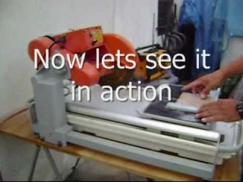 Harbor Freight Tile Saw Review Youtube