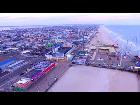 Drone flight in Seaside Heights, NJ