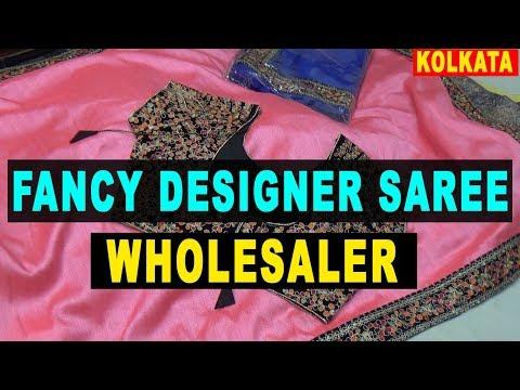 Fancy Designer Saree Wholesaler In Kolkata    Burrabazar