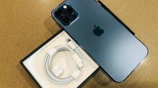 แกะกล่อง IPhone 12 Pro Max in Pacific Blue vs Iphone 10