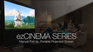 Elite Screens ezCinema Series Portable Pull-Up Projection Screen
