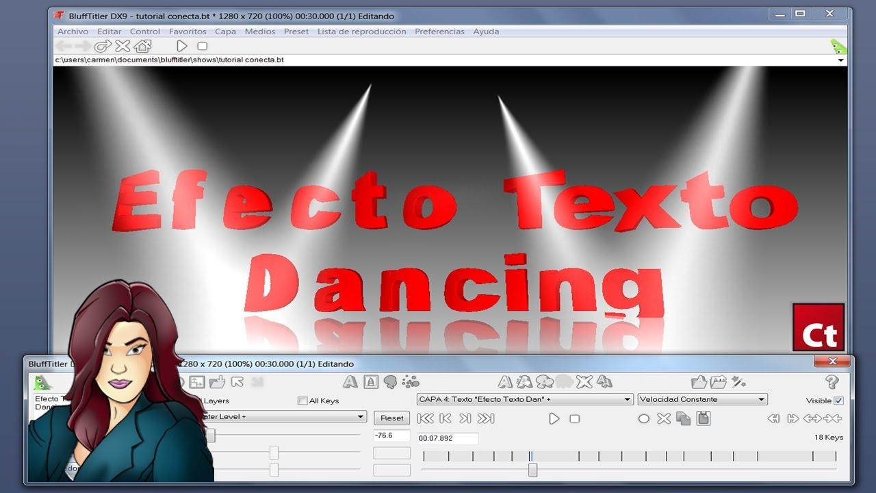 Tutorial blufftitler texto bailarin 3d by karmen for Programas para hacer cocinas en 3d