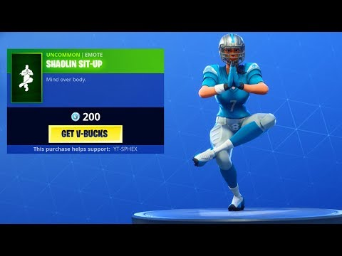"""The New """"SHAOLIN SIT-UP"""" Emote is TERRIBLE... ???? - Fortnite Item Shop Countdown"""