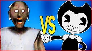 БЕНДИ VS ГРЕННИ СУПЕР РЭП БИТВА Granny Game Horror ПРОТИВ Bendy And The Ink Machine Batim