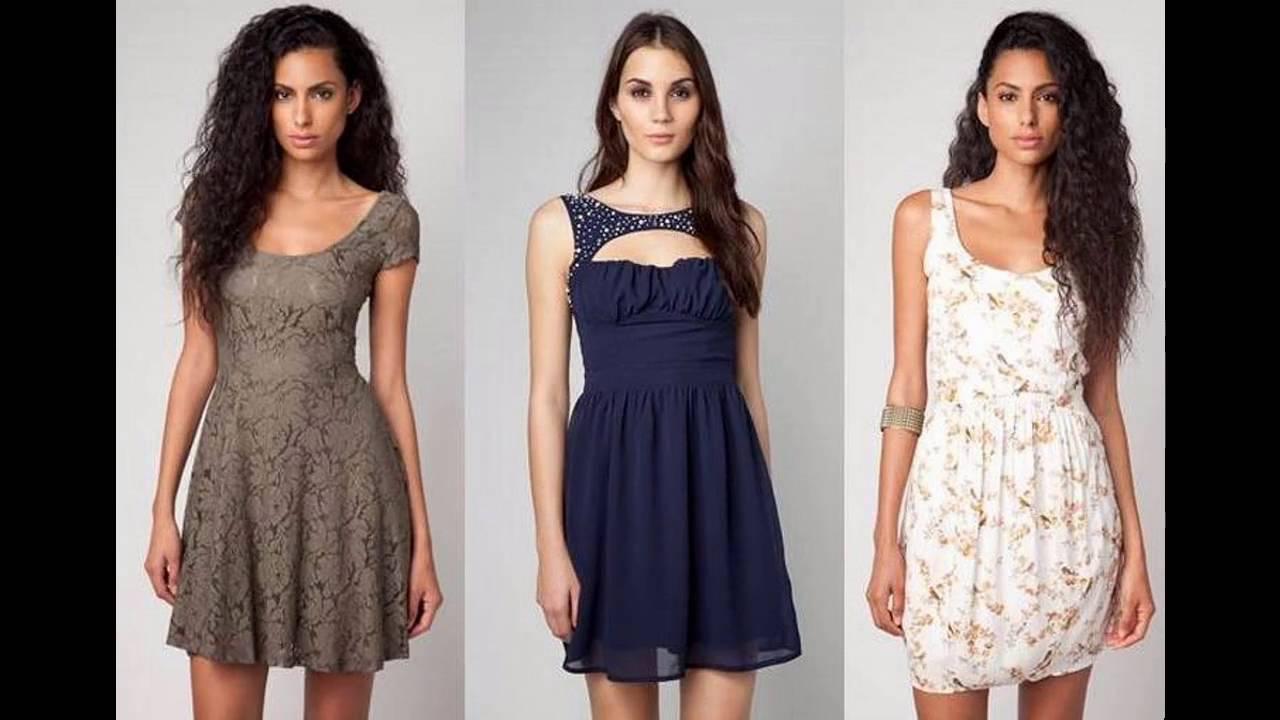 39017afd21 Vestidos de moda juveniles casuales de gasa - YouTube
