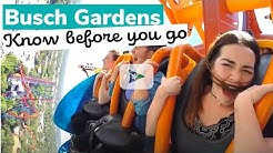 Busch Gardens: Know Before You Go