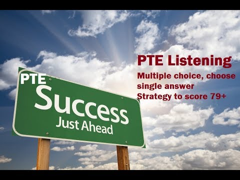 PTE Listening test Strategies for Multiple choice choose single answer question type To Score 79+