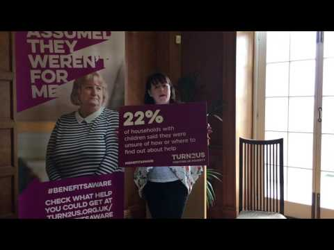 Michelle Gildernew MLA gives her support to the Turn2us #BenefitsAware campaign