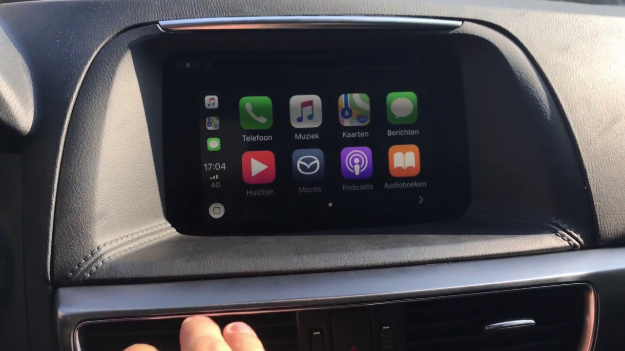 Mazda Cx 5 2016 Retrofit Installed Apple Carplay Youtube