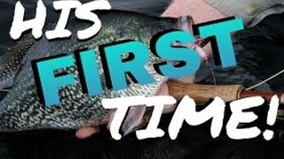 fly fishing for bluegill perch and crappie his first fish on the fly