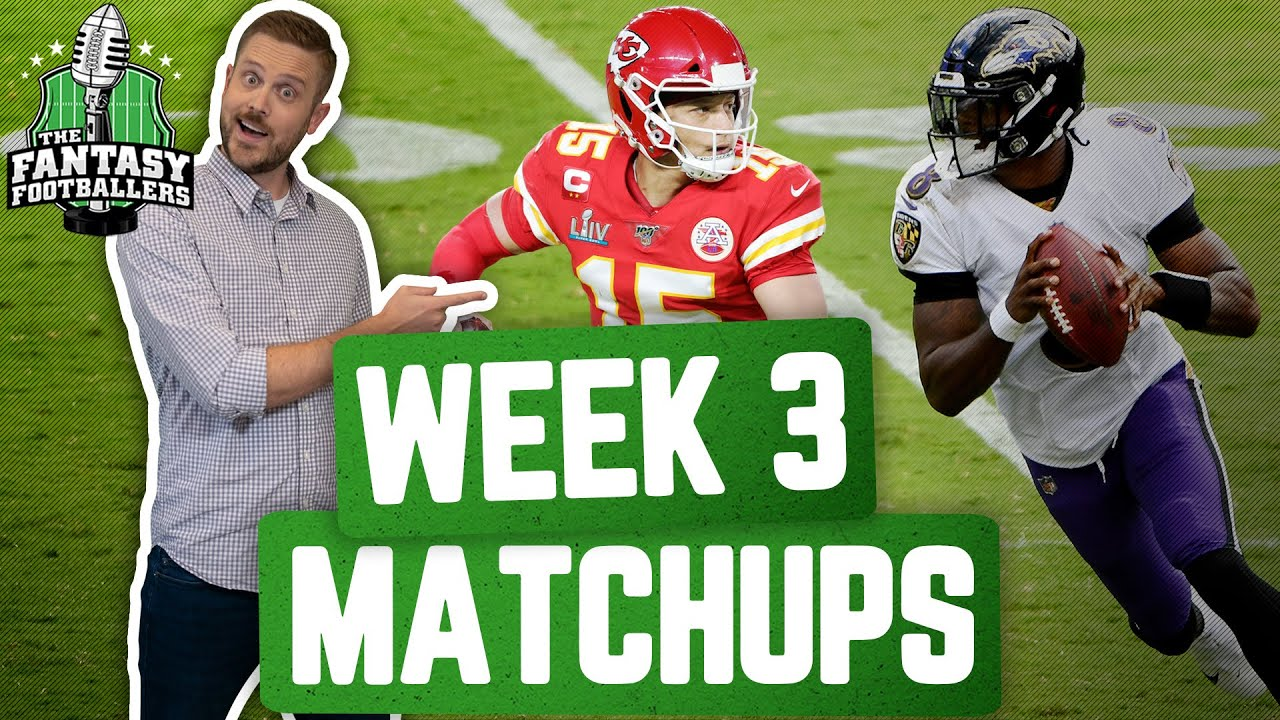 Fantasy Football 2020 - Week 3 Matchups + Minsh-eww, In-or-Out - Ep. #949