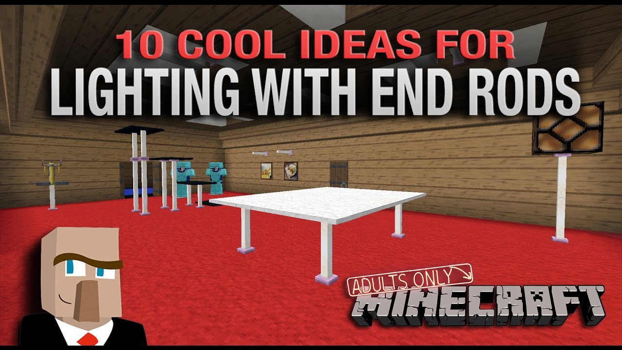 10 COOL IDEAS FOR LIGHTING WITH END RODS   A Minecraft How To Video
