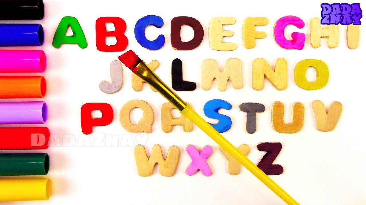 Английский Алфавит | Учим цвета с красками | Раскраска ...