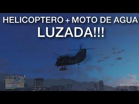 HELICOPTERO + MOTO DE AGUA = LUZADA!! GTA Online con Willyrex y Vegetta - [LuzuGames]