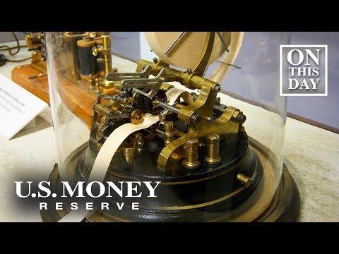 D. K. Smith - November 15, 1867 First stock ticker debuts