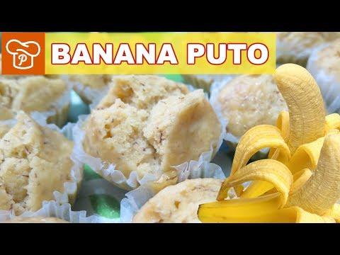 How to Make Banana Puto (Steamed Cake) – Panlasang Pinoy Easy Recipes