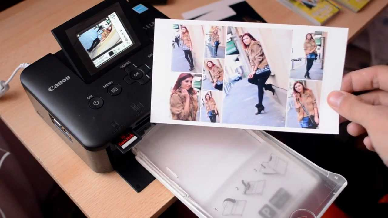 Canon Selphy Cp800 Printing 8 Photo Collage Youtube