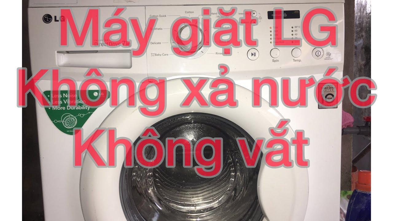 Máy giặt LG không xả nước không vắt . Điện máy xanh