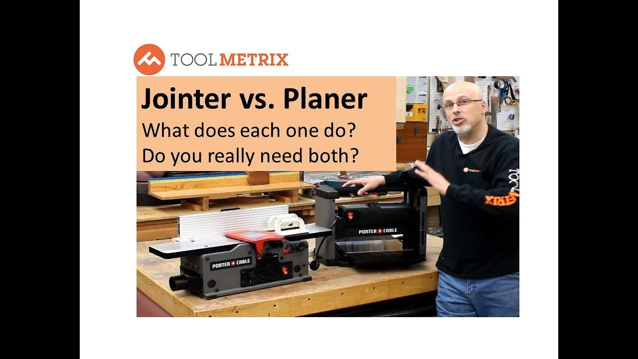 Jointer Vs Planer What Does Each One Do Youtube