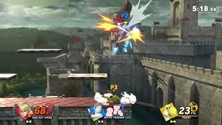 Super Smash Bros. Ultimate - 223 - Zero Suit Samus vs Wii Fit Trainer vs Yoshi