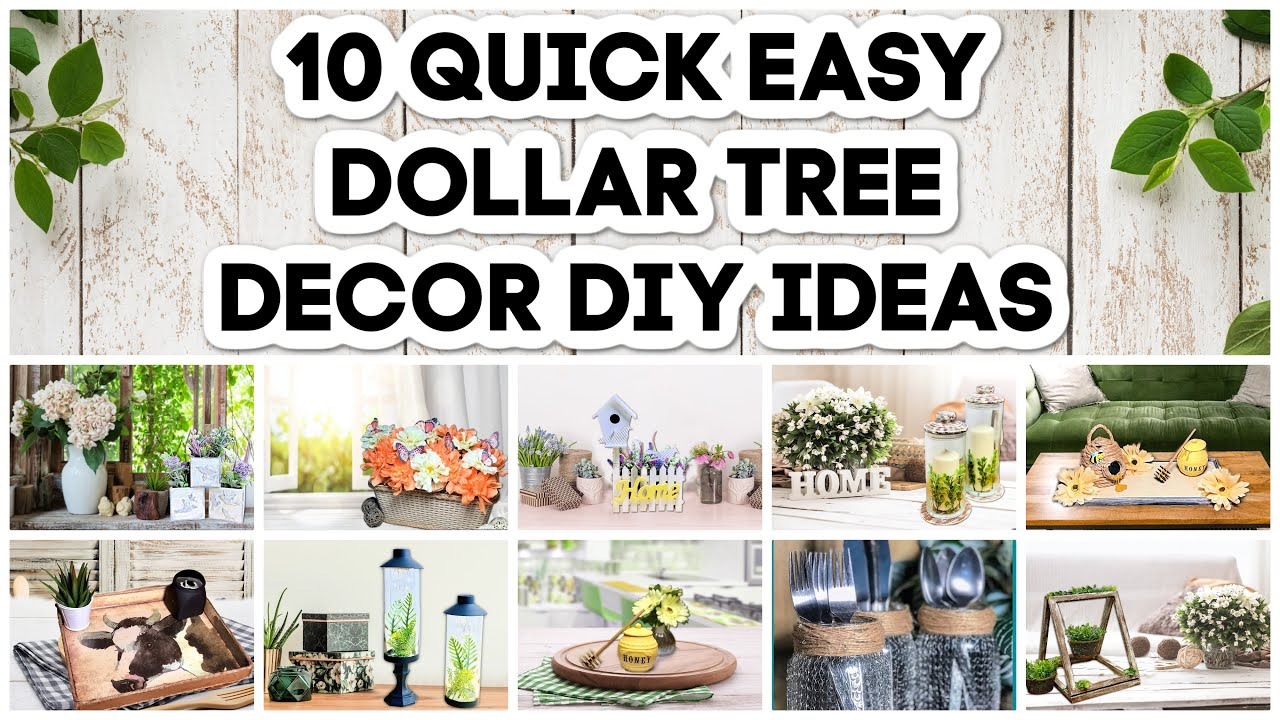 10 Dollar Tree DIYs Farmhouse, Rustic, High-End And More | Easy Crafts On A Budget For 2021