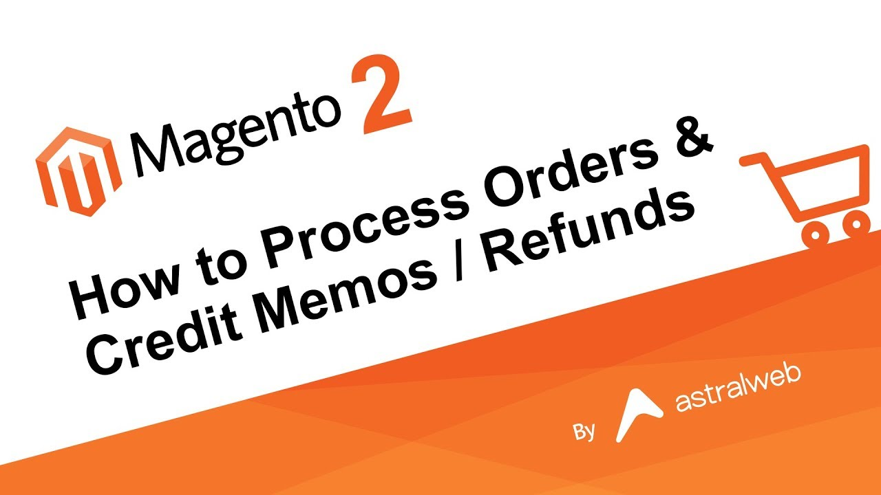 Magento 2 How To Process Orders Credit Memos Refunds Youtube