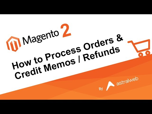 Magento 2 How to Process Orders & Credit Memos / Refunds