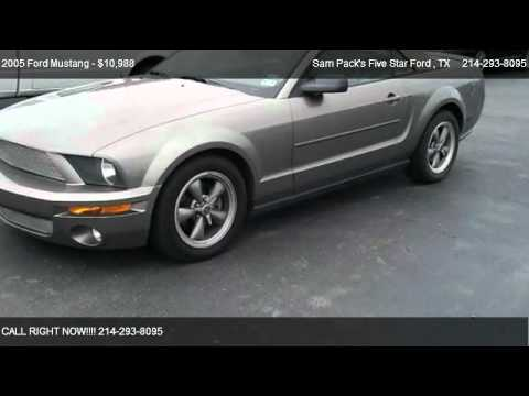 2005 ford mustang v6 for sale in carrollton tx 75006 youtube. Black Bedroom Furniture Sets. Home Design Ideas