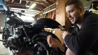 Harley Low Rider S License Plate and Turn Signal Relocator Install