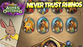 Never Trust the Nagrand Rhinos | Firebat Hearthstone | Ashes of Outland