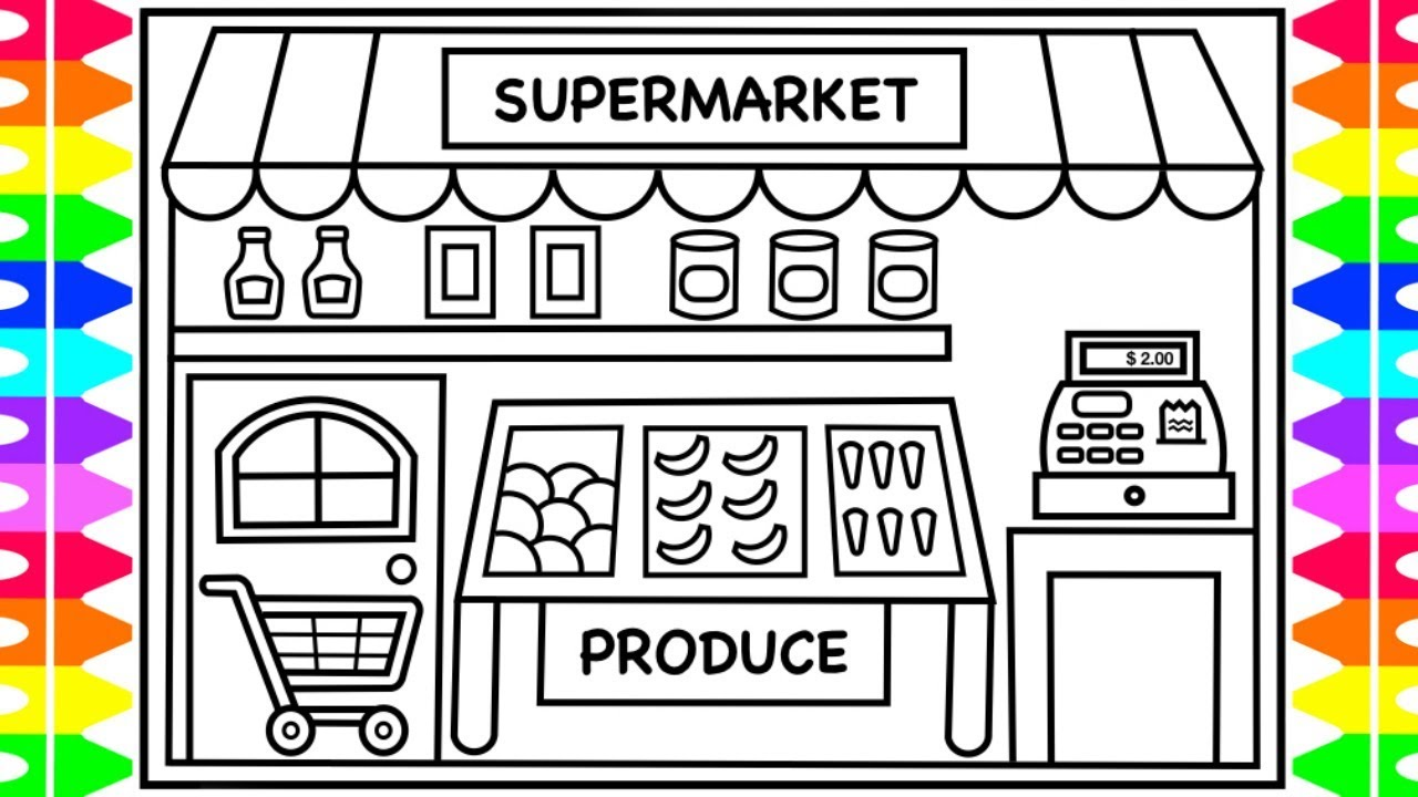 grocery store coloring pages - photo#19