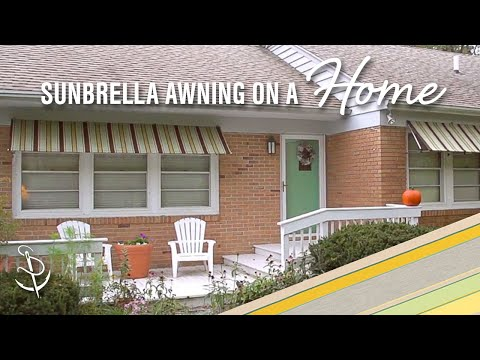 How to Make a Sunbrella Awning on a Home