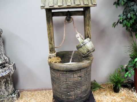 Wishing Well Fountain With Underwater Led Youtube